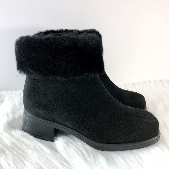 La Canadienne Zippy Black Suede Fur